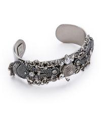 DANNIJO Locklyn Bracelet - Silver/Crystal - Lyst