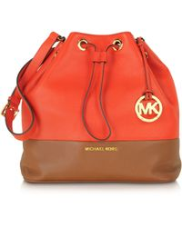 Michael Kors - Jules Large Color-Block Shoulder Bag - Lyst