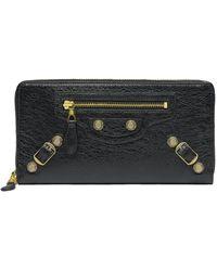 Balenciaga Giant Gold Continental Zip Around - Lyst