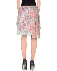 Axelle De Soie - Knee Length Skirt - Lyst