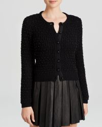 Alice + Olivia Cardigan - Pearl Novelty Stitched - Lyst