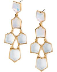 Lele Sadoughi Iridescent Prism Chandelier Earrings - Lyst