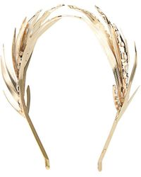 Rosantica By Michela Panero - Apache Gold-Plated Pearl Headband - Lyst