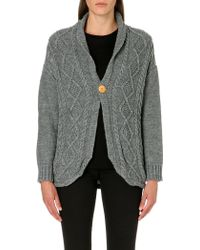 Chocoolate - It Long-sleeved Cable-knit Cardigan - Lyst