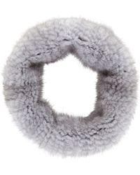 Barneys New York Stretch Fur Cowl - Lyst