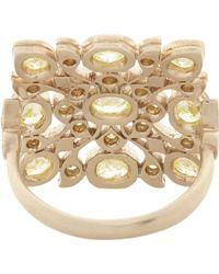 Anaconda - Yellow Diamond White Gold Avesh Ring - Lyst