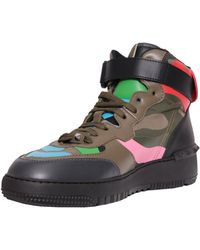 Valentino Rockstud Leather High Top Sneakers - Lyst