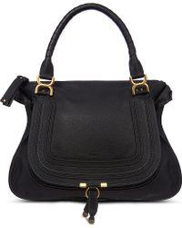 Chloé Marcie Satchel Bag Black - Lyst