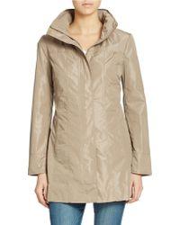 Ellen Tracy Petite Packable Rain Jacket - Lyst