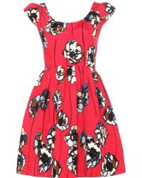 Miu Miu Cottonblend Printed Dress - Lyst