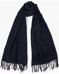 Comme des Garçons   Navy Oversized Wool Scarf   Lyst