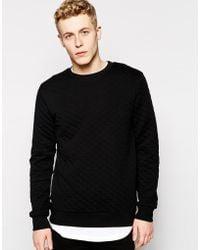 Wesc Rinko Quilted Sweatshirt - Lyst