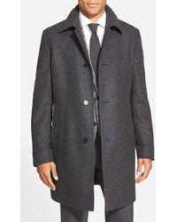 BOSS | 'task' Wool Blend Topcoat | Lyst