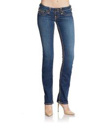 True Religion Slim Top Stitched Jeans - Lyst