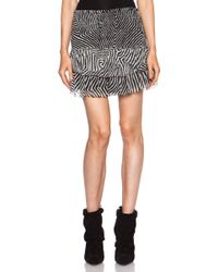 Etoile Isabel Marant Derek Printed Silk Chiffon Skirt - Lyst