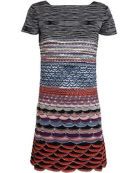Missoni Knitted Scallop Dress - Lyst