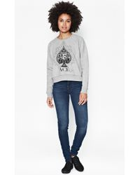 French Connection Ace Of Spades Sweater - Lyst