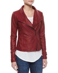 Vince Scuba-Style Leather Jacket - Lyst