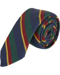 Barneys New York Multistripe Tie - Lyst