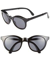 Sunpocket - 'samoa' 50mm Foldable Sunglasses - All Black - Lyst
