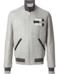 Balenciaga Embroidered Bomber Jacket - Lyst