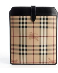 Burberry Brown Haymarket Ipad Case - Lyst
