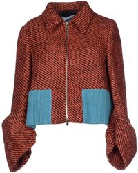 Prada Jacket red - Lyst