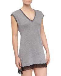 Cosabella French Terry Cortina Chemise - Lyst