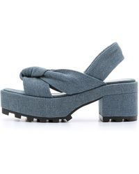 Cheap Monday | Trapped Knot Platform Sandals - Pale Denim | Lyst