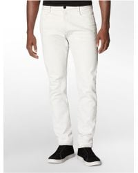 Calvin Klein Tapered Military Light Wash Jeans - Lyst