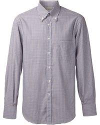Brunello Cucinelli Button Down Check Shirt - Lyst