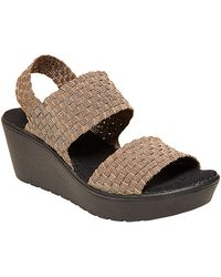 Steven by Steve Madden Brookln Stretch Fabric Wedge Sandals - Lyst