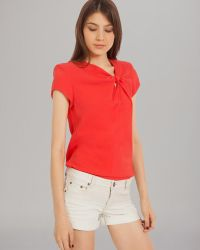 Maje Noeud Structure Top - Lyst
