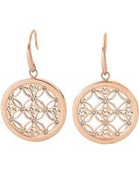 Michael Kors Rose Gold-Tone And Glitz Small Drop Earrings - Lyst