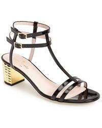 Kate Spade 'Mercury' Double Ankle Strap Leather Sandal - Lyst
