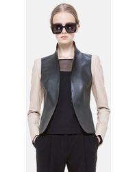 Akris Punto Two-Tone Nappa Leather Jacket - Lyst
