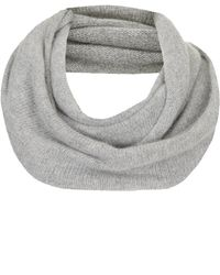 Topshop Womens Rolled Edge Snood  Grey - Lyst