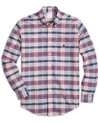 Brooks Brothers Non-Iron Madison Fit Tartan Sport Shirt - Lyst
