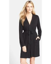 DKNY 'City Essentials' Short Robe - Lyst