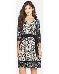 Taylor Dresses - Print Faux Wrap Dress - Lyst