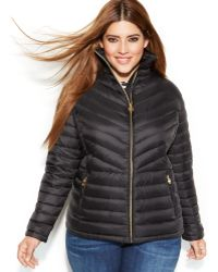 Michael Kors Michael Plus Size Packable Quilted Down Puffer Coat - Lyst