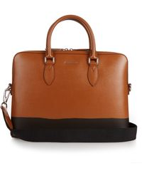 Burberry Prorsum | Burrow Crosshatch-leather Briefcase | Lyst