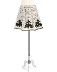 Jessica Simpson Lace Overlay A-Line Skirt - Lyst