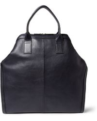 Alexander McQueen De Manta Leather Tote Bag - Lyst