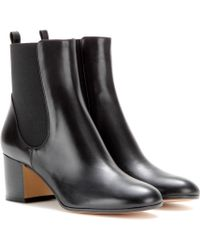 Gianvito Rossi Leather Ankle Boots - Lyst
