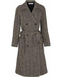 See By Chloé Herringbone Wool-blend Coat - Lyst