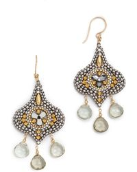 Miguel Ases Silver Amy Earrings  - Lyst