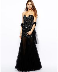 Forever Unique Sparkle Embellished Maxi Dress - Lyst