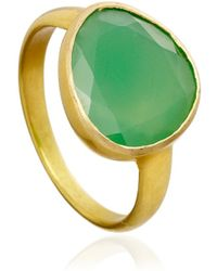 Pippa Small - Chrysoprase Large Greek Ring - Lyst
