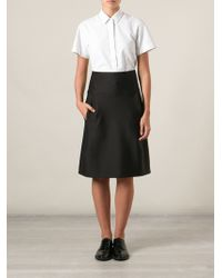 Jil Sander High Waisted A-line Skirt - Lyst